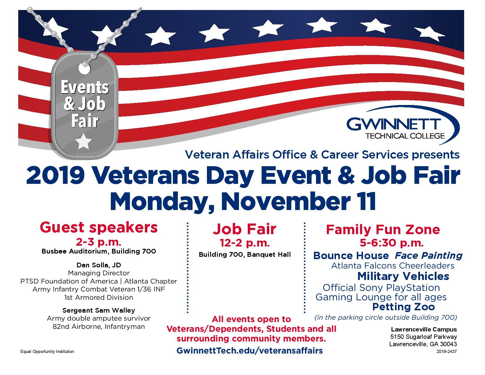 The Warrior Alliance Gwinnett Tech Veterans Day Events 3 Events